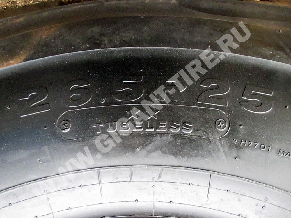 Размер и тип конструкции шин Bridgestone 26.5 R25 VMT L3