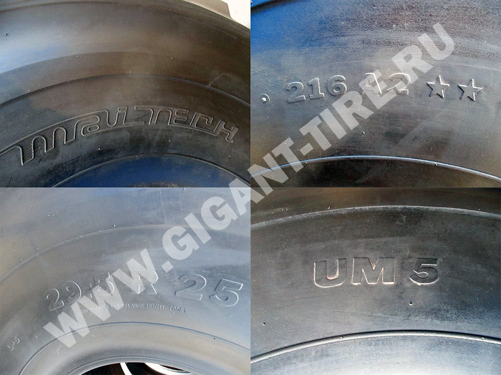 Условные обозначения шины Maitech 29.5 R25 UM5 L-5