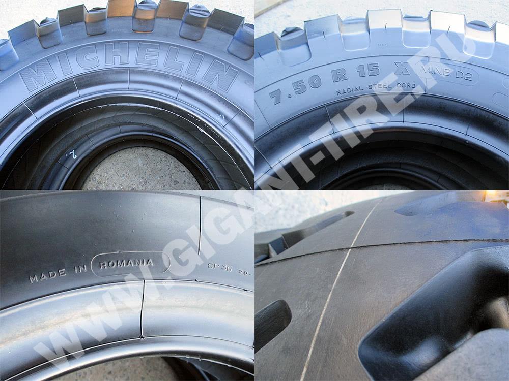 Условные обозначения на шине Michelin 7.50 R15 X MINE D2 C1