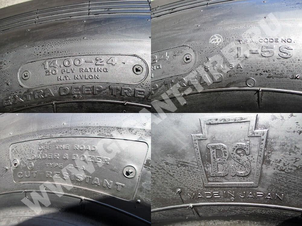 Техническая маркировка шин Bridgestone 14.00-24 STMS L-5S