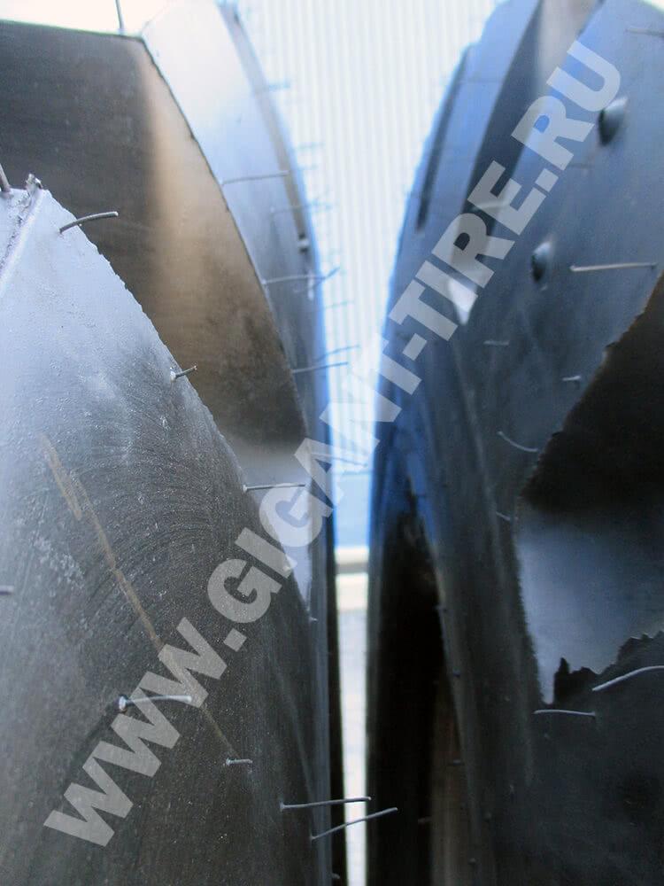 Резиновые усики на новых шинах Goodyear 26.5R25 RL-5K