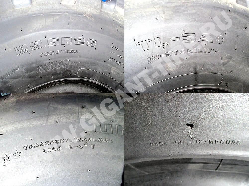 Goodyear 29.5 R25 TL-3A+: размер шин, модель, индекс нагрузки и страна производитель