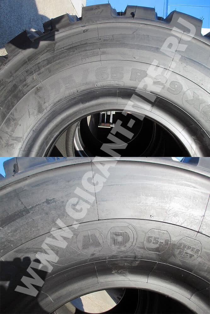 Техническая маркировка шин Michelin 775/65 R29 XAD 65-1 E3T