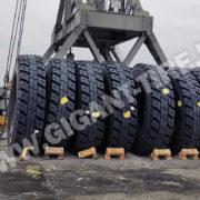 Перегрузка шин 27.00R49 Michelin XDR2 во Владивостоке (февраль 2019)