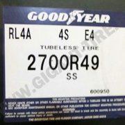 Шина 27.00R49 Goodyear RL-4A E-4